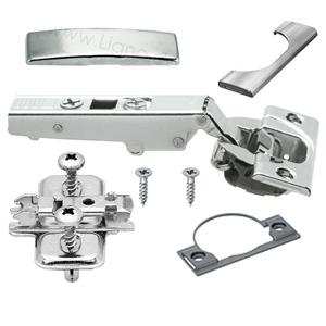 Blum Scharnier mit Dämpfung, 71B3550, schraubbar Eckanschlag + Montageplatte + Topfdistanz + Abdeckkappen