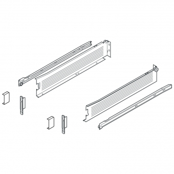 METABOX Teilauszug M, H 86 mm, NL 270-550 mm 320M2700C Teilauszug, NL 270 mm