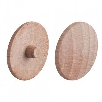 Abdeckkappe aus Echtholz, für Verbindungsgehäuse Minifix