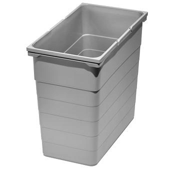 Abfallbehälter 35 Liter, H 470 mm hellgrau