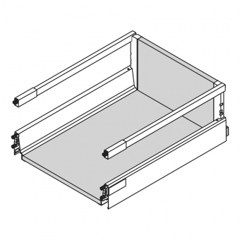 antaro Schubkasten Reling montiert 500 mm/DM für 16 mm Seiten Breite 500 mm   Länge/Tiefe 500 mm   weiß
