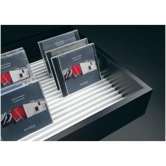 DVD + CD Aufbewahrung Alu silber B 3000 mm