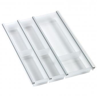 Besteckeinsatz cuisio für Schubladen-Innenbreite 345-370 mm, weiß cuisio - weiß für 450 mm Schrankbreite