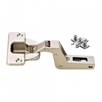 329.81.590 Duomatic Scharnier, Innenschlag mit 9 mm Montageplatte - zum Schrauben