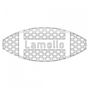 Lamello Flachdübel 2 für Nuttiefe 12 mm