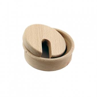 Kabeldurchlass Holz lackiert, Ø 80 mm, aus verschiedenen Hölzern
