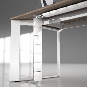 Kabelführung Flap - im edlen Design - zur vertikalen und horizontalen Montage