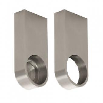 Kleiderstangenhalter, Edelstahl für Rohr-Ø 30 mm