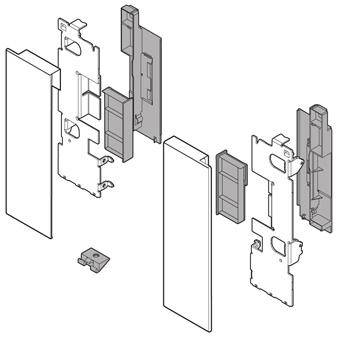 ZI7.2CS0 Vorderstück-Set für Innenauszug C mit Einschub, seidenweiß Fronthalter (li/re) LBX pure / free Innenschub C, SW