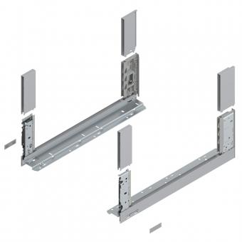 Legrabox free Zarge C (Höhe 177 mm) NL 350-650 mm, polarsilber