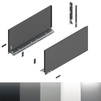 Legrabox Frontauszug F Bausatz Länge/Tiefe 450 mm | inox | zum Schrauben