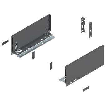 Legrabox Frontauszug K Bausatz Länge/Tiefe 450 mm | oriongrau | Expando