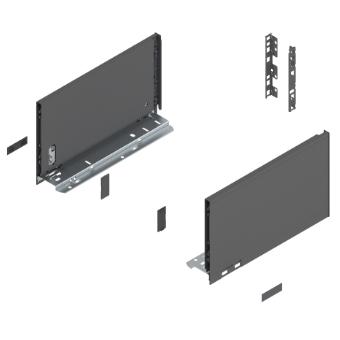 Legrabox pure Frontauszug C Bausatz Länge/Tiefe 450 mm | polarsilber | zum Schrauben