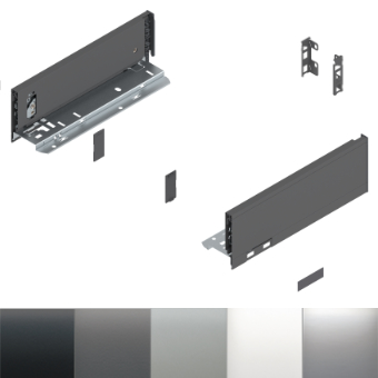 Legrabox Schubkasten M Bausatz Länge/Tiefe 550 mm | inox | zum Schrauben