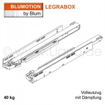 Blum Legrabox Korpusschiene mit Blumotion, 40 kg