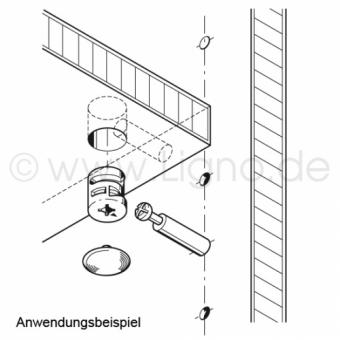 MINIFIX 12 Verbindergehäuse für Holzdicke ab 12 mm