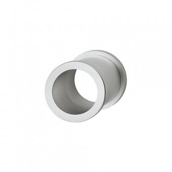 Muschelgriff / Kabeldurchlass Messing verchromt matt, Ø 35 mm
