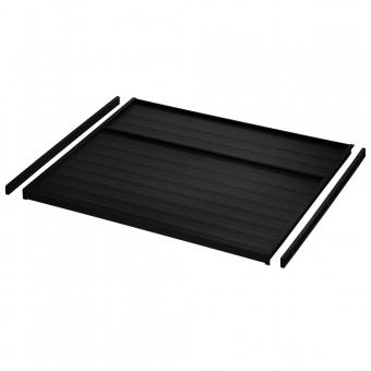 Deckelplatte für 19 mm Schrankseiten, Set dunkelgrau
