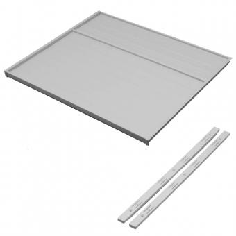 Deckelplatte für 19 mm Schrankseiten, Set hellgrau