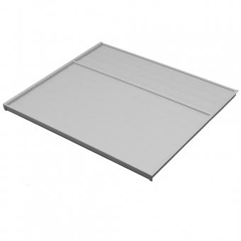 Deckelplatte für 16er Seiten B 766 x T 470 mm 16er Deckelpl. o. Zub. KB 800 mm hellgr.