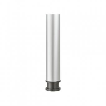 Tischfuß Rondella, Stahl - zylindrisch - weißaluminium - ø 80 mm - H 710 mm weißaluminium RAL 9006 - 710 mm - ø 80 mm