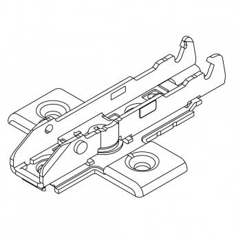 1D-Kreuzmontageplatte Tiomos zum Anschrauben