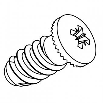Euro-Zylinderschraube Ø 6,3 x L 10,5 mm