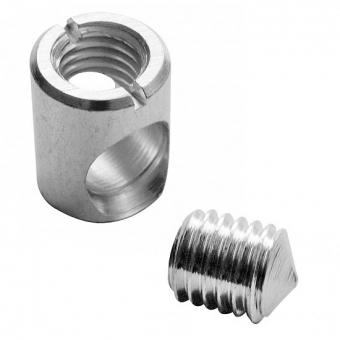 XS Gehäuse Ø 15 mm + Gewindestift M10 x 10/12 mm