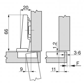 Blum 70 255 CLIP - Standardscharnier 71M2550