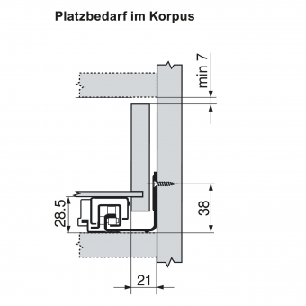 Blum Movento Vollauszug Blumotion NL=550mm 60Kg 766H5500B