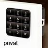 Codeschloss 10TEN private Version, schwarz Ten10 Tastaturschloss schw. / privat