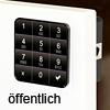 Codeschloss 10TEN Public Version, schwarz Ten10 Tastaturschloss schw. / öffentlich