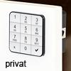 Codeschloss 10TEN private Version, weiß Ten10 Tastaturschloss w. / privat