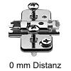 174H7100E Exzenter-Kreuzmontageplatte + Schraube Höhe 8,5 mm 174H7100E Distanz 0 mm