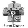 174H7130E Exzenter-Kreuzmontageplatte + Schraube Höhe 11,5 mm 174H7130E Distanz 3 mm