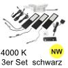 LED Unterbauleuchte Six Big, 3er Set Aluminium schw. NW 3er Set Alu mit TOUCH, schwarz - 3x4W - neutralweiß - inkl. 12 Vdc 15W