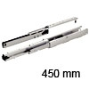 Vollauszug Schrank Dachschräge, Tragkraft 75 kg 450 mm L Ziehschrankführung weiß 75 kg 450 mm