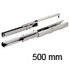 Vollauszug Schrank Dachschräge, Tragkraft 75 kg 500 mm L Ziehschrankführung weiß 75 kg 500 mm