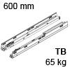 576.6001M Tandembox Korpusschiene für Tip-On Blumotion TBX Schienen TipOn Blum., 65 kg / NL 600 mm
