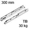 578.3001M Tandembox Korpusschiene für Tip-On Blumotion TBX Schienen TipOn Blum., 30 kg / NL 300 mm