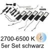 LED Unterbauleuchte Six Big, 5er Set Aluminium schw. E 5er Set Alu mit TOUCH, schwarz - 5x4W - Emotion - inkl. 12 Vdc 20W