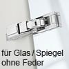 Blum CRISTALLO Scharnier 110°, ohne Feder 70T4500CTL Cristallo Scharnier / TIP-ON griffloses öffnen geeignet - NI