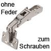 CLIP top 170°-Scharnier 70T6550 Blum Eckanschlag ohne Zuhaltung, zum schrauben