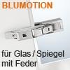 Spiegel Glas Scharnier mit Zuhaltung + Dämpfung 71B4500C Cristallo Scharnier, gedämpft - NI