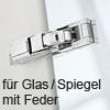 Blum CRISTALLO Scharnier 110°, mit Feder/Zuhaltung ohne Dämpfung 71T4500C Cristallo Scharnier, mit Feder - NI
