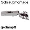 Blum Scharnier 75B1550 Eckanschlag 107° 75B1550 Eckanschlag, schraubbar - gedämpft