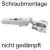 Blum Scharnier 75T1550 Eckanschlag 107°, ohne Dämpfung 75T1550 Eckanschlag, schraubbar - nicht gedämpft