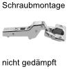 Blum Scharnier 75T1650 Mittelanschlag 107°, ohne Dämpfung 71T1650 Mittelanschlag, schraubbar - nicht gedämpft