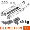760H2500S Blum Movento Vollauszug Blumotion S, 40 kg - NL 250 mm