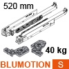 760H5200S Blum Movento Vollauszug Blumotion S, 40 kg - NL 520 mm